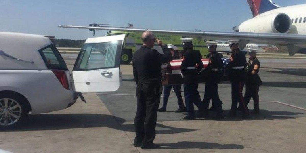 Body of fallen NC Marine returns home