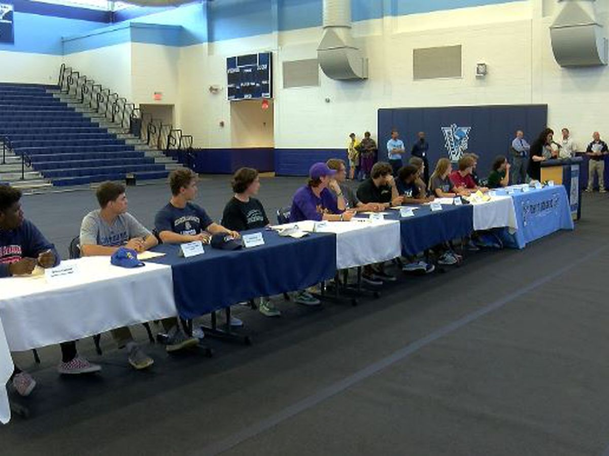 Hoggard High School hosts signing day event