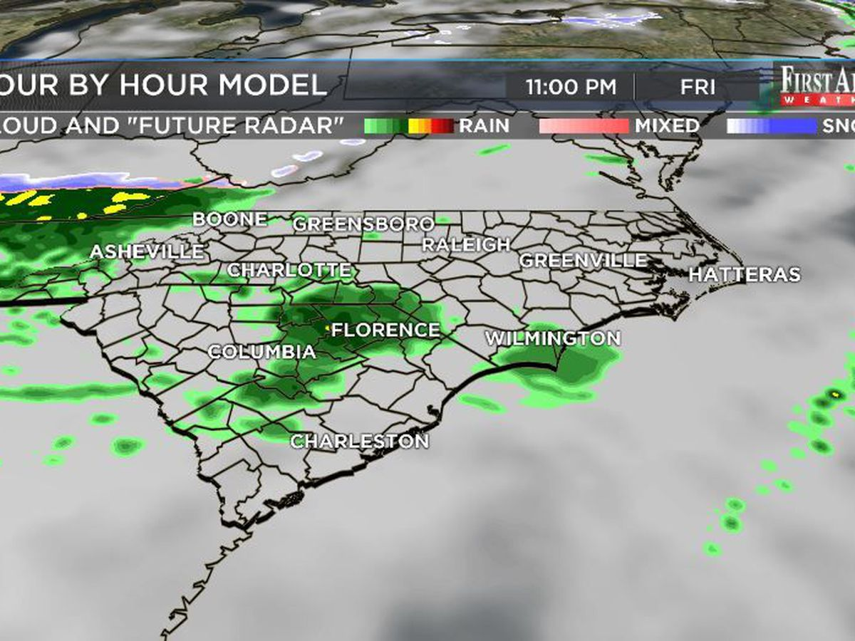 First Alert Forecast: showers poised to pounce Friday night