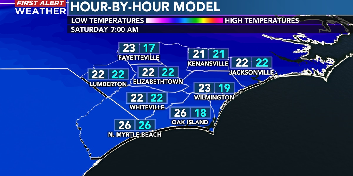 First Alert Forecast: very cold Christmas night ahead, still chilly for Saturday