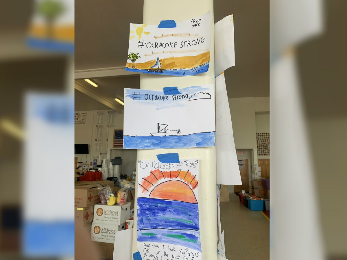 Wilmington art students send #OcracokeStrong cards to hurricane victims