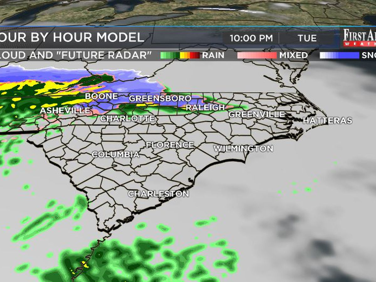 First Alert Forecast: dynamic front to create weather drama across Cape Fear Region all week