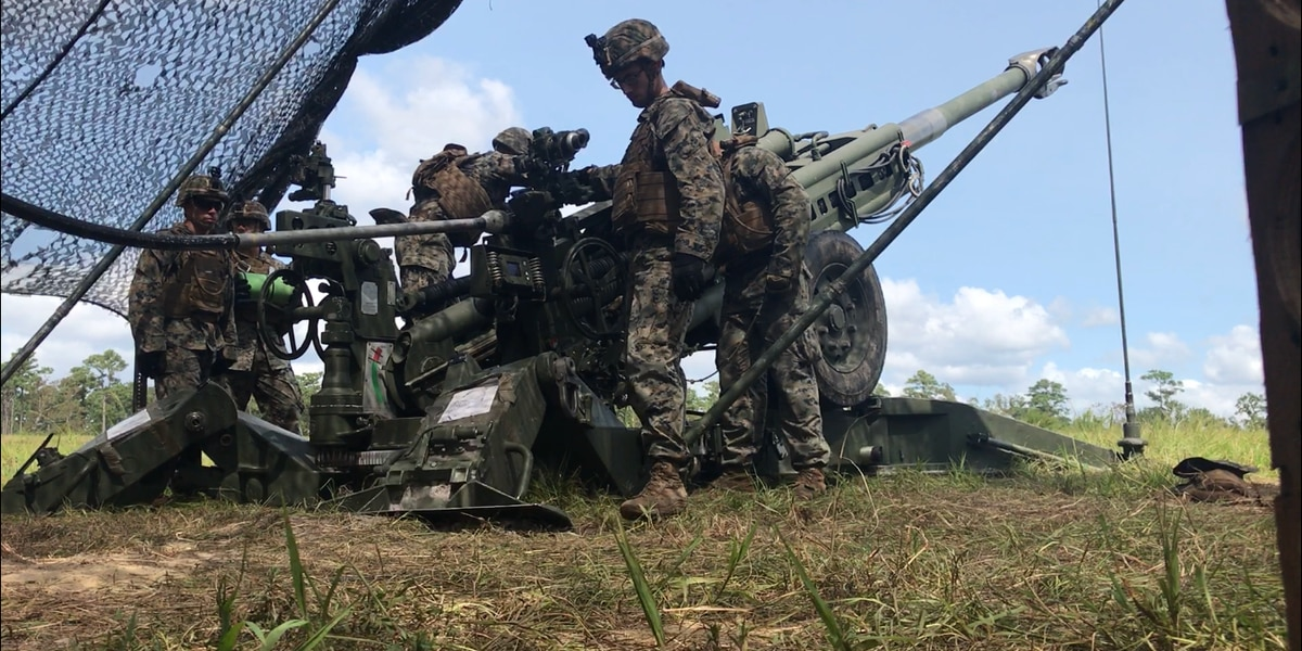 Behind the Scenes: Live artillery fire training at Camp Lejeune