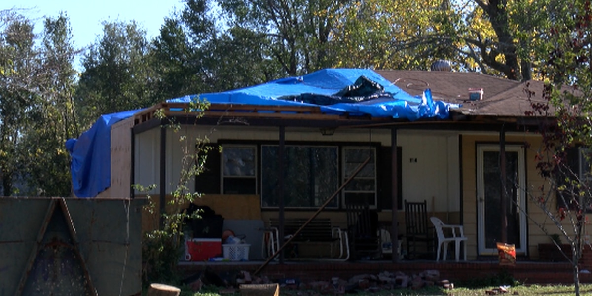 Repairs start on woman's home damaged by Florence