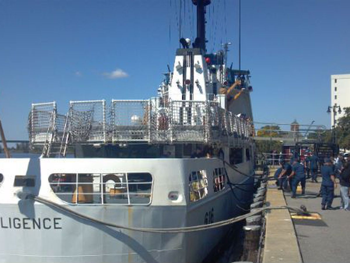 Coast Guard Cutter Diligence departs Wilmington for last time
