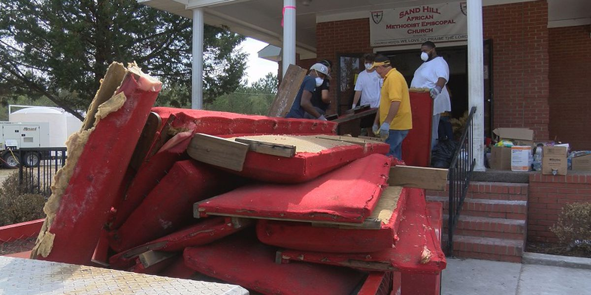 Sandhill AME Baptist Church gets helping hand from community, out of state volunteers