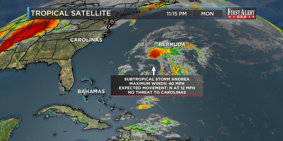 Subtropical Storm Andrea forms southwest of Bermuda