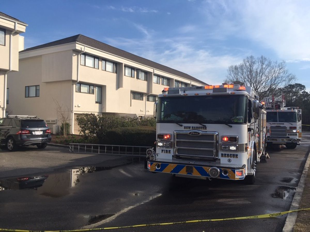 One rescued from balcony during Wilmington apartment fire