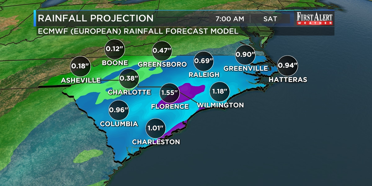 First Alert Forecast: quick and substantial dose of rain on the way this evening