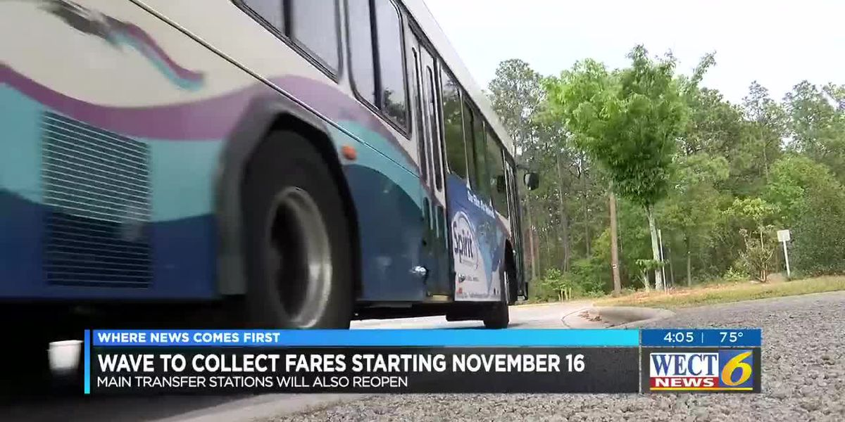 Wave Transit to reinstate fares, reopen transfer stations on Nov. 16