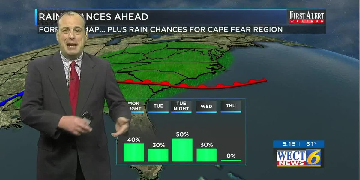 Your First Alert Forecast for Monday evening Mar. 23, 2020