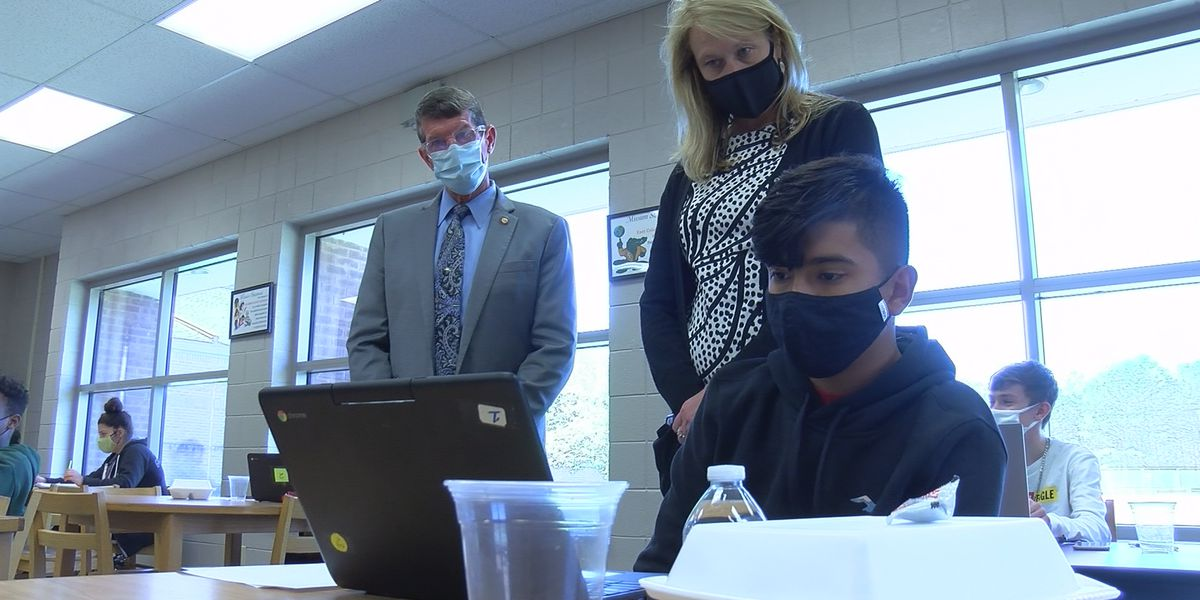 State education leaders visit Columbus County schools