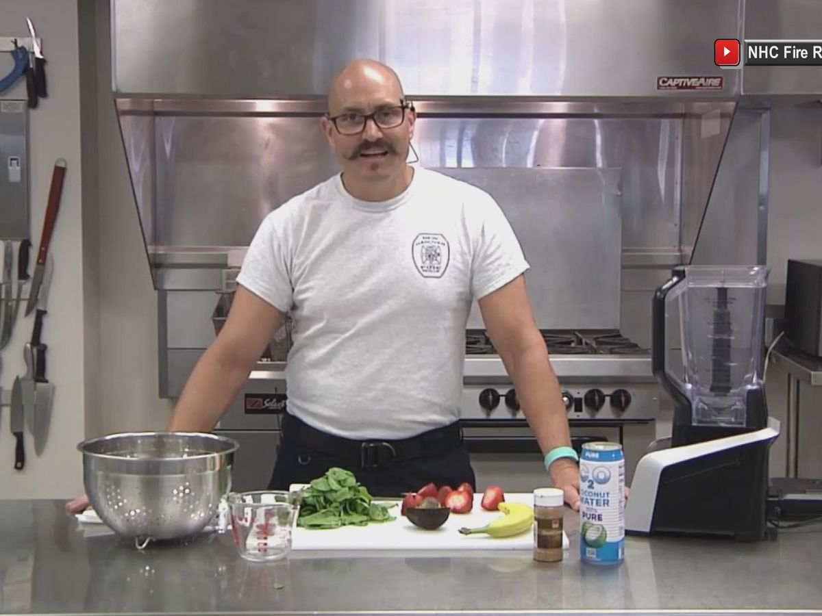 Firefighter shares healthy recipes with his department and the community in a series of online cooking videos