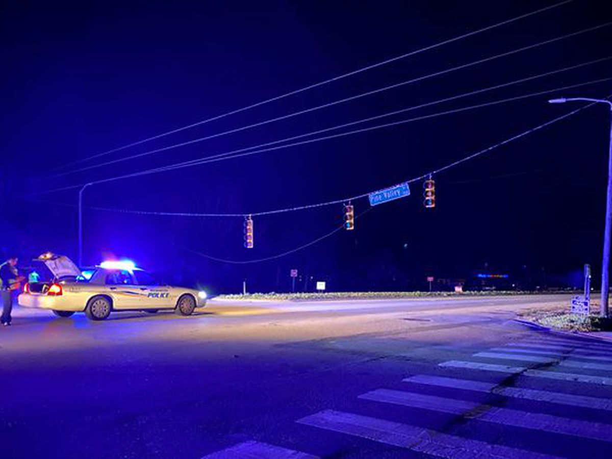Downed power pole hampers overnight traffic on South College Rd.