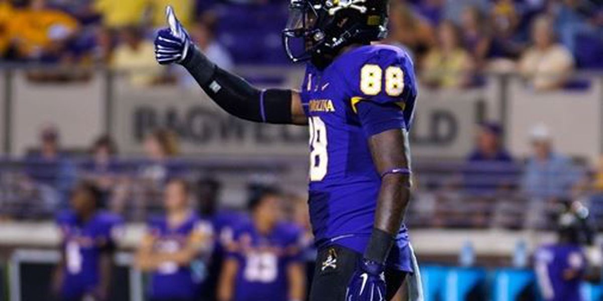 ECU's Trevon Brown named AAC co-offensive player of the week