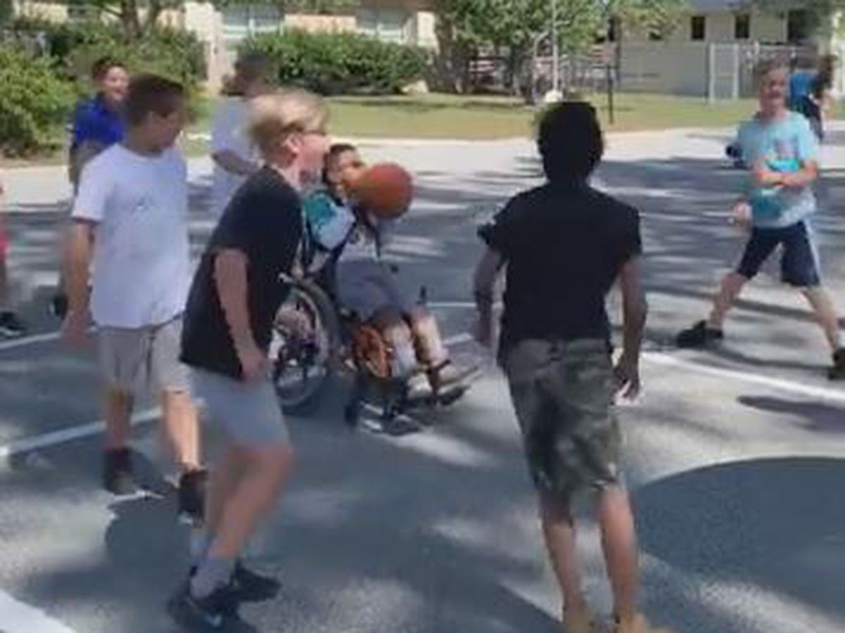 Video of Topsail students on basketball court featured on Good Morning America