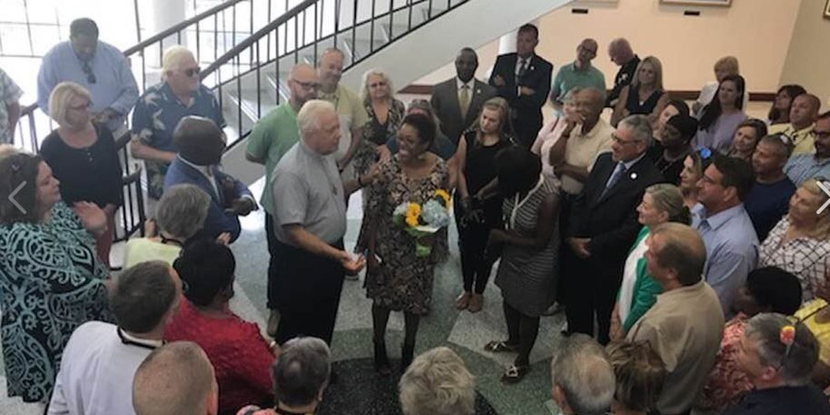 'I am blessed to be home': Judge Ola Lewis welcomed home during prayer vigil