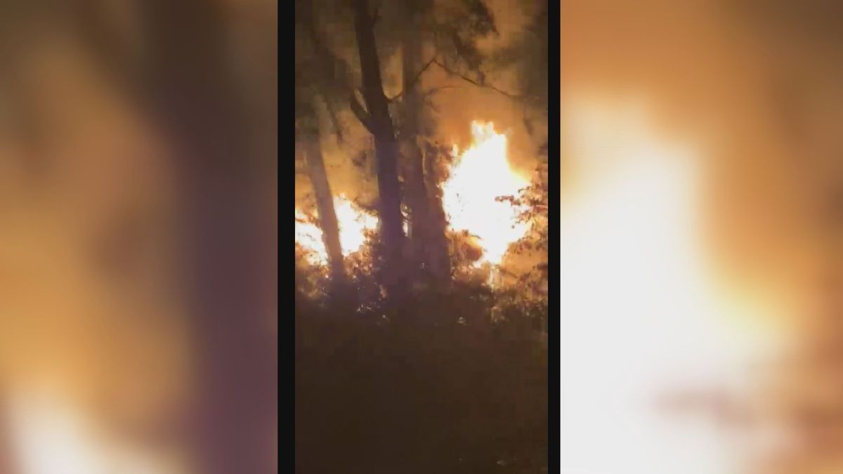 Firefighters respond to large fire along River Rd.