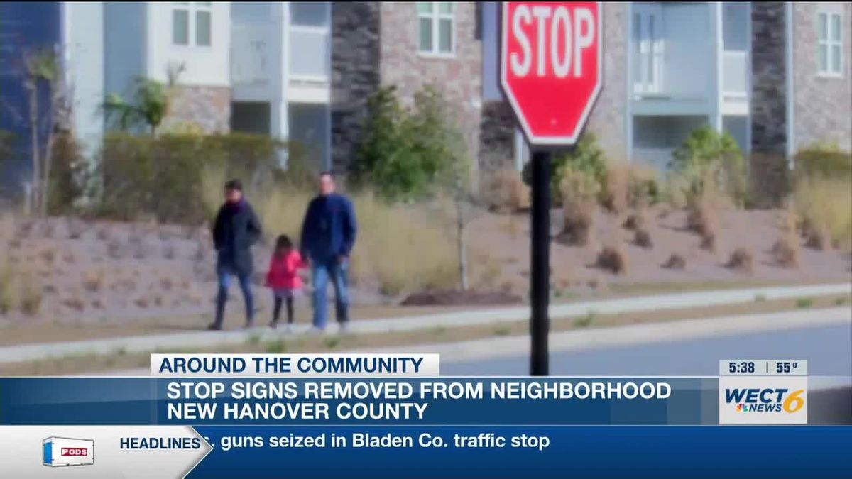 Neighbors concerned about safety issues after stop signs removed