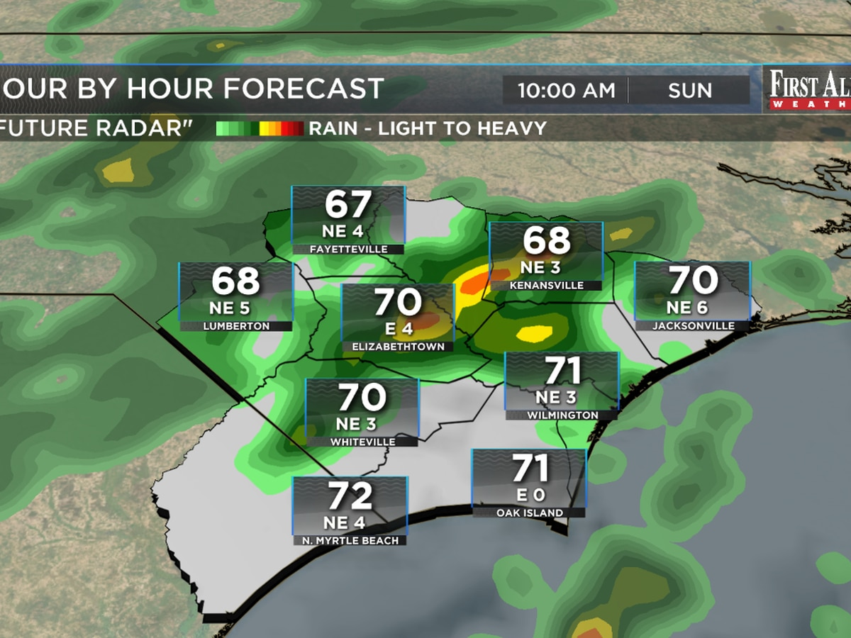 First Alert Forecast: chances for rain Sunday as we watch the tropics again