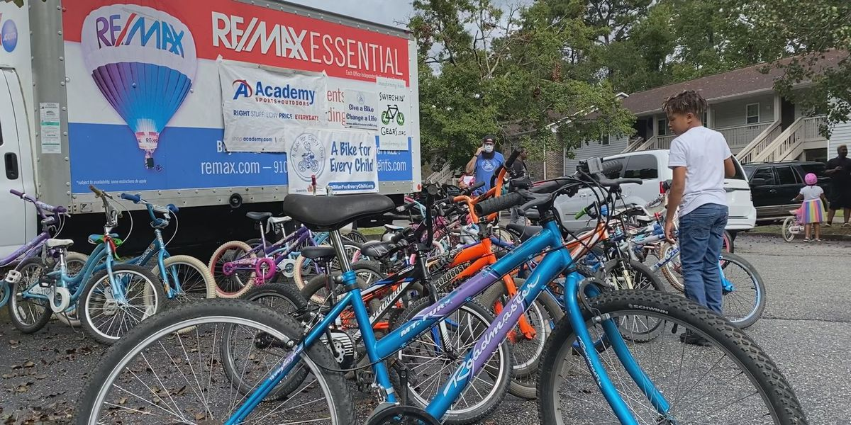 100 kids surprised with free bikes