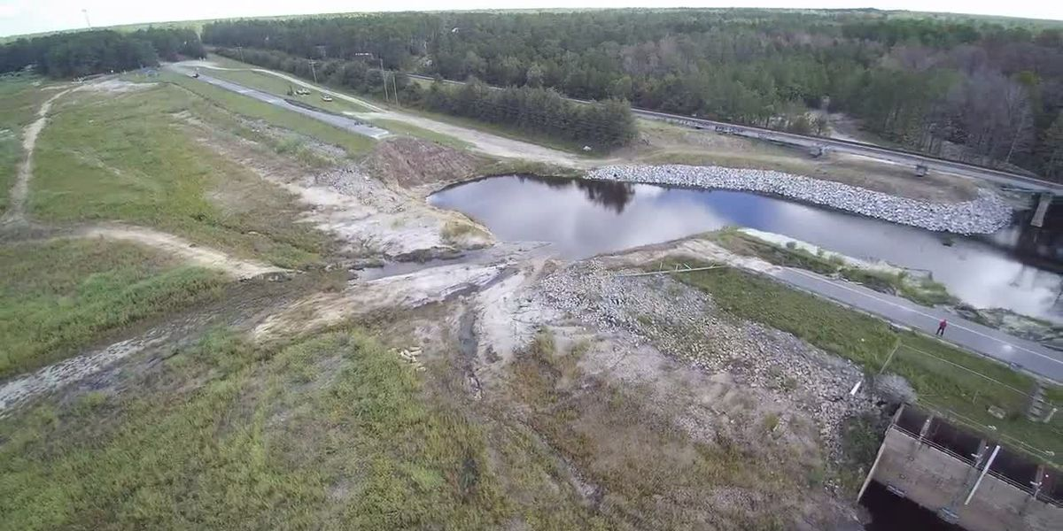 SKY TRACKER: shows little water in the lakes of Boiling Spring Lakes