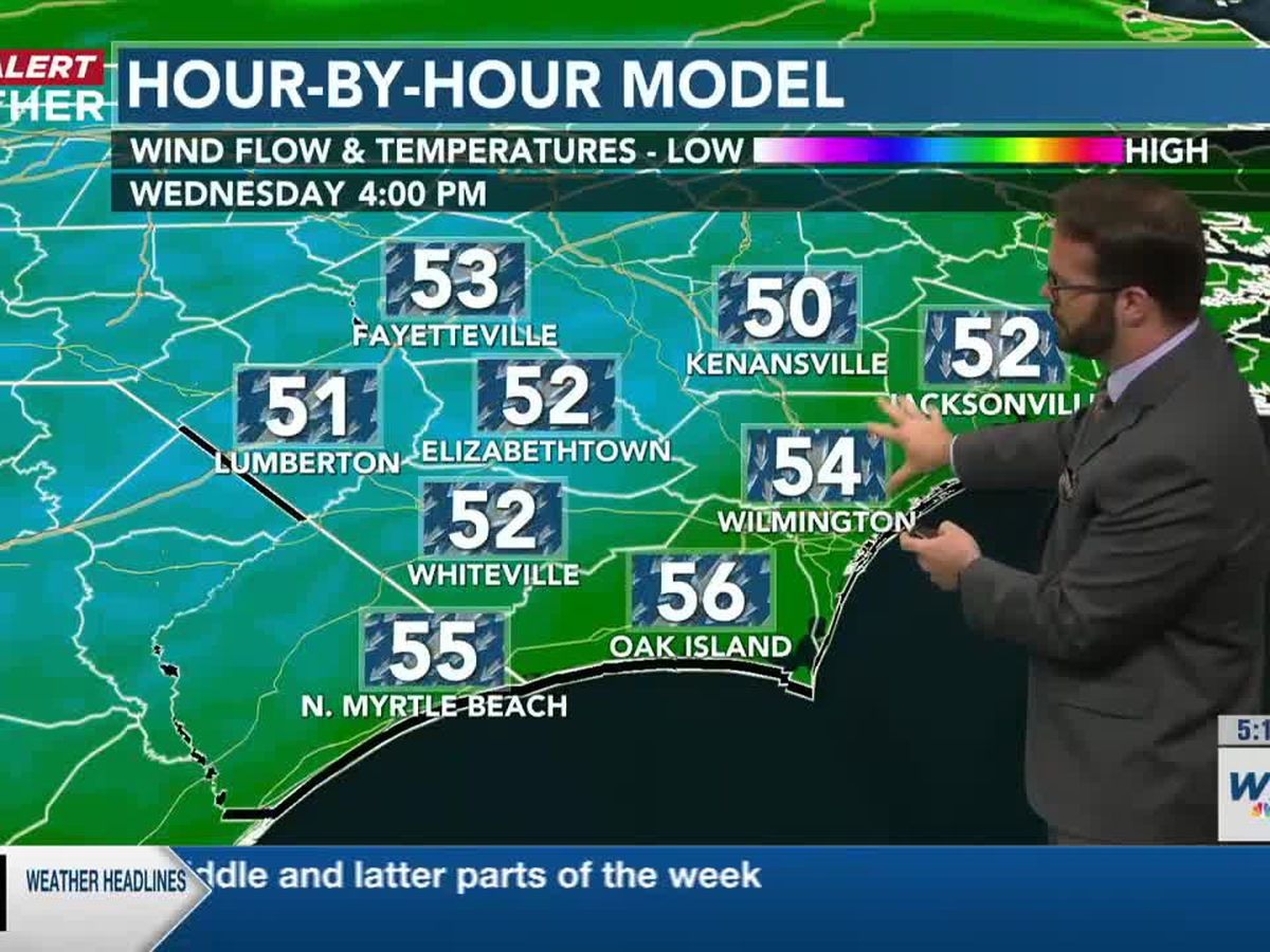 First Alert Forecast: wet and wildly chilly Wednesday