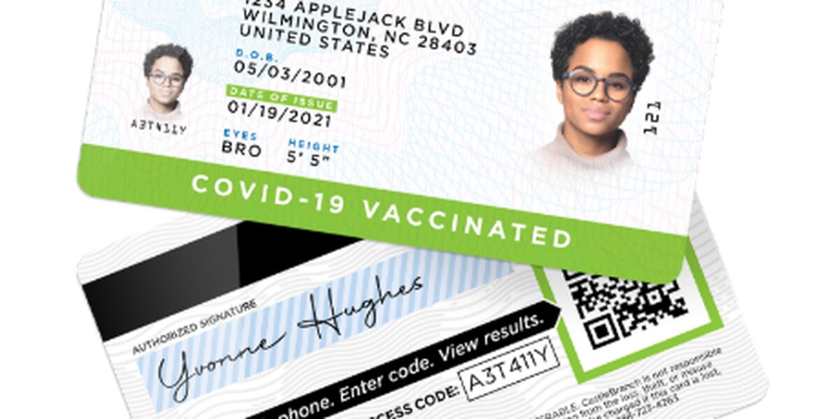 Wilmington business issues COVID-19 vaccine ID cards