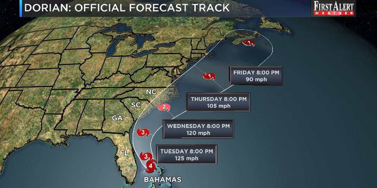 First Alert Forecast: Dorian to bring impacts as early as Wednesday