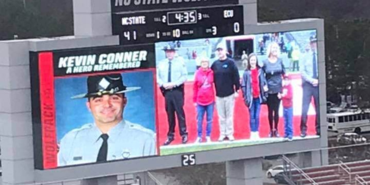 North Carolina State University honors Trooper Kevin Conner