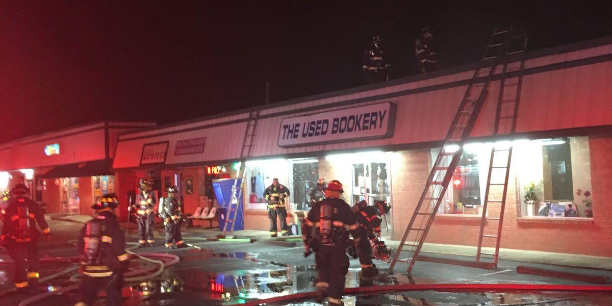 Wilmington crews extinguish fire at book store
