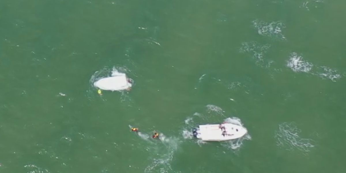 Two boats capsize in separate incidents off Topsail Beach
