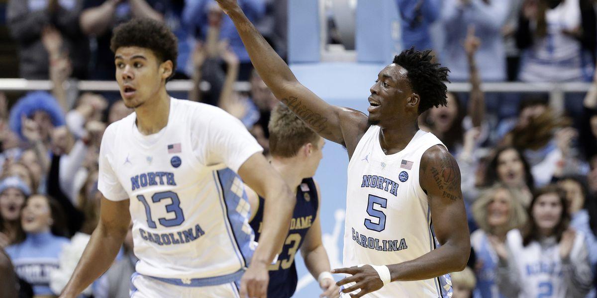 Little, No. 13 North Carolina hold off Notre Dame