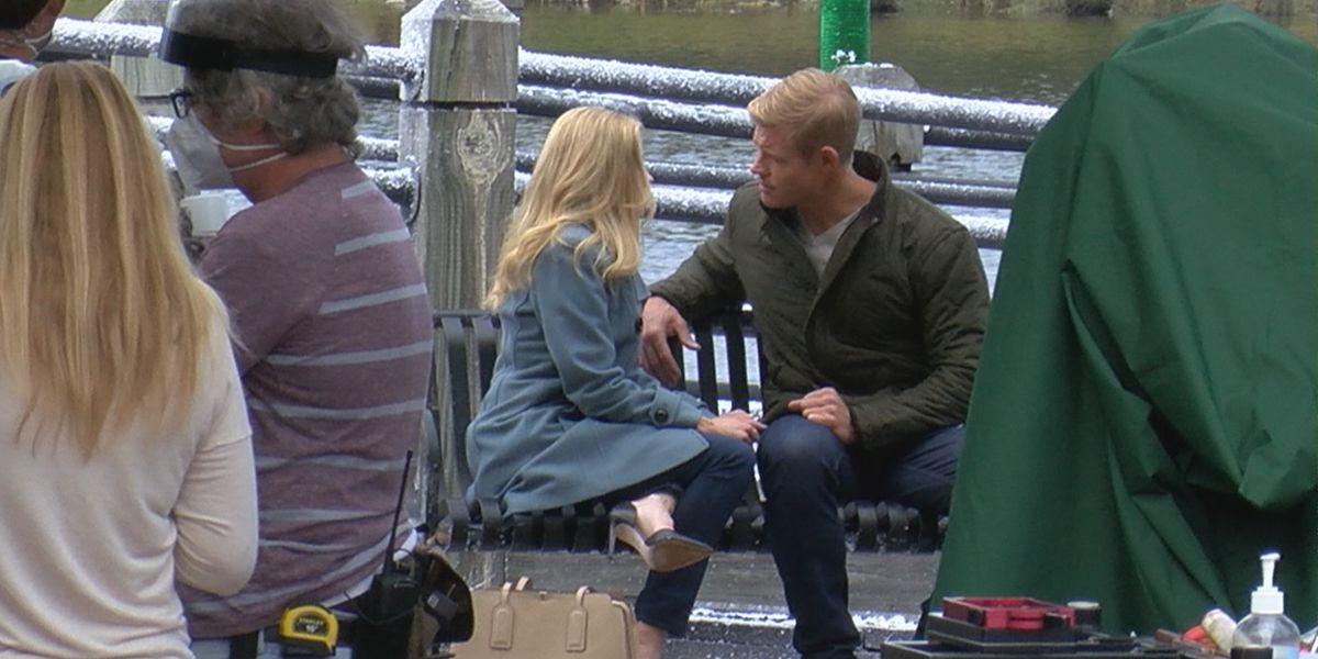 Hallmark star wraps filming 'U.S.S. Christmas' in Wilmington, reflects on time on set