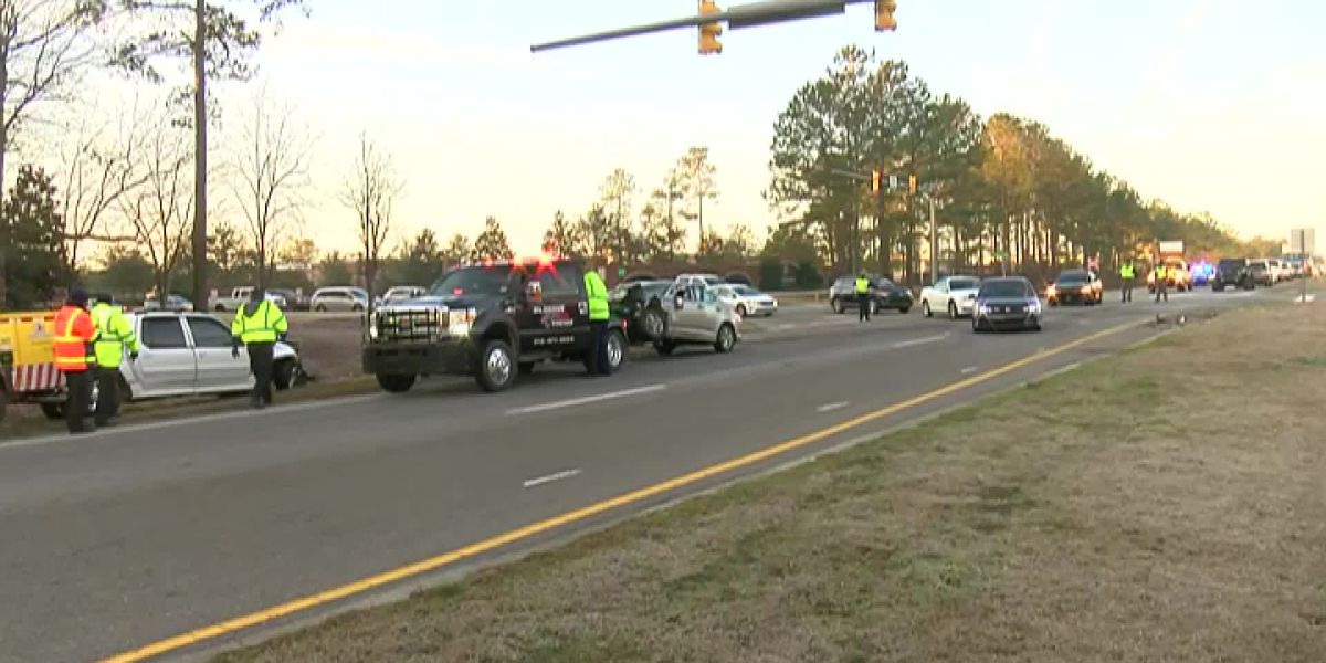 RAW VIDEO: Wreck near Brunswick Forest causes traffic delays