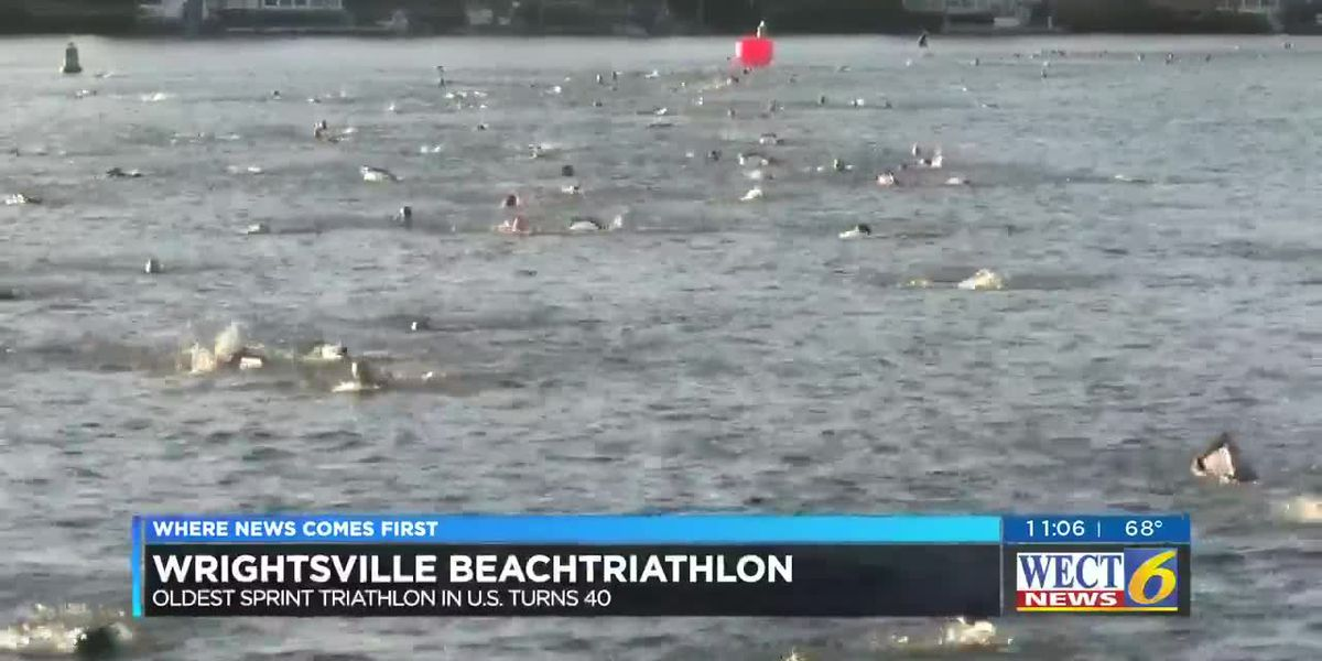 Over 600 athletes lace up for the the Wrightsville Beach triathlon