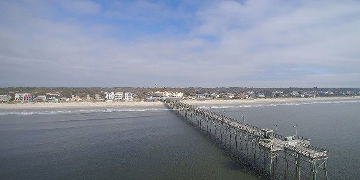 SKY TRACKER: Drone footage of the Oak Island Pier