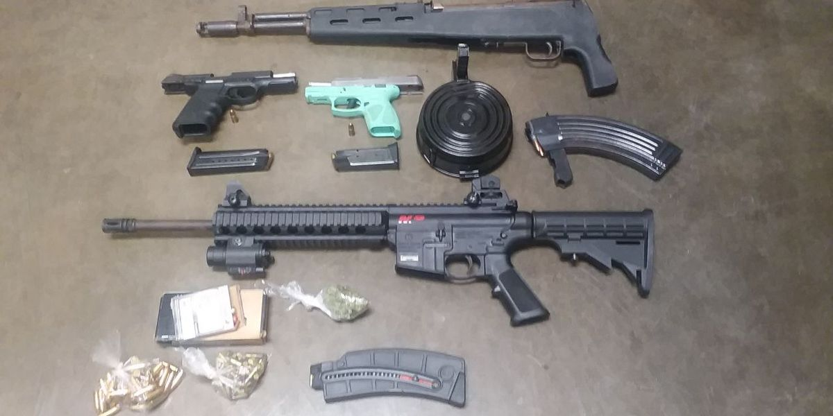 Guns, marijuana found after probation absconder arrested in Bladen Co.