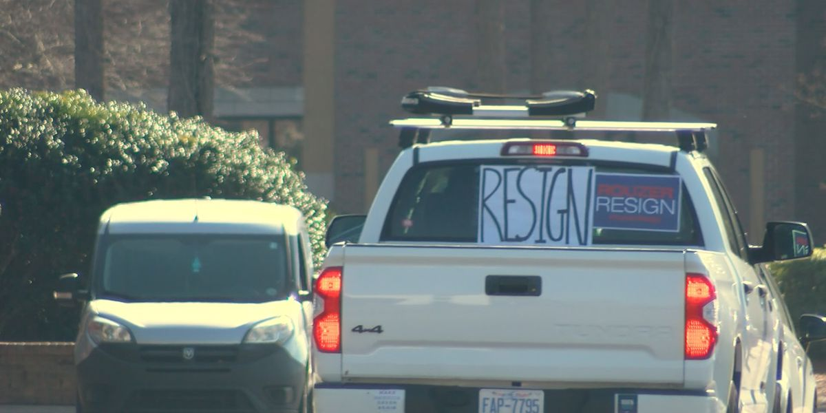 Group holds drive-by protests against Congressman Rouzer over election vote