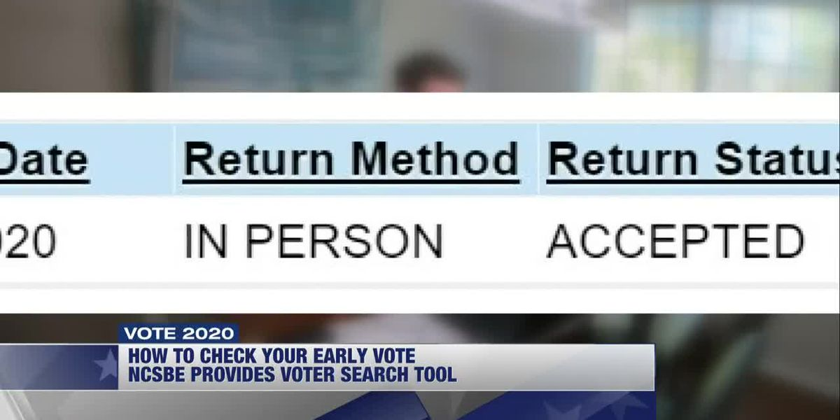 Use Voter Search tool to check your ballot status