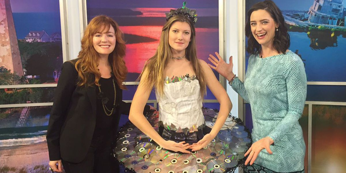 From the recycling bin to the runway: Teens use library's waste to create stunning looks