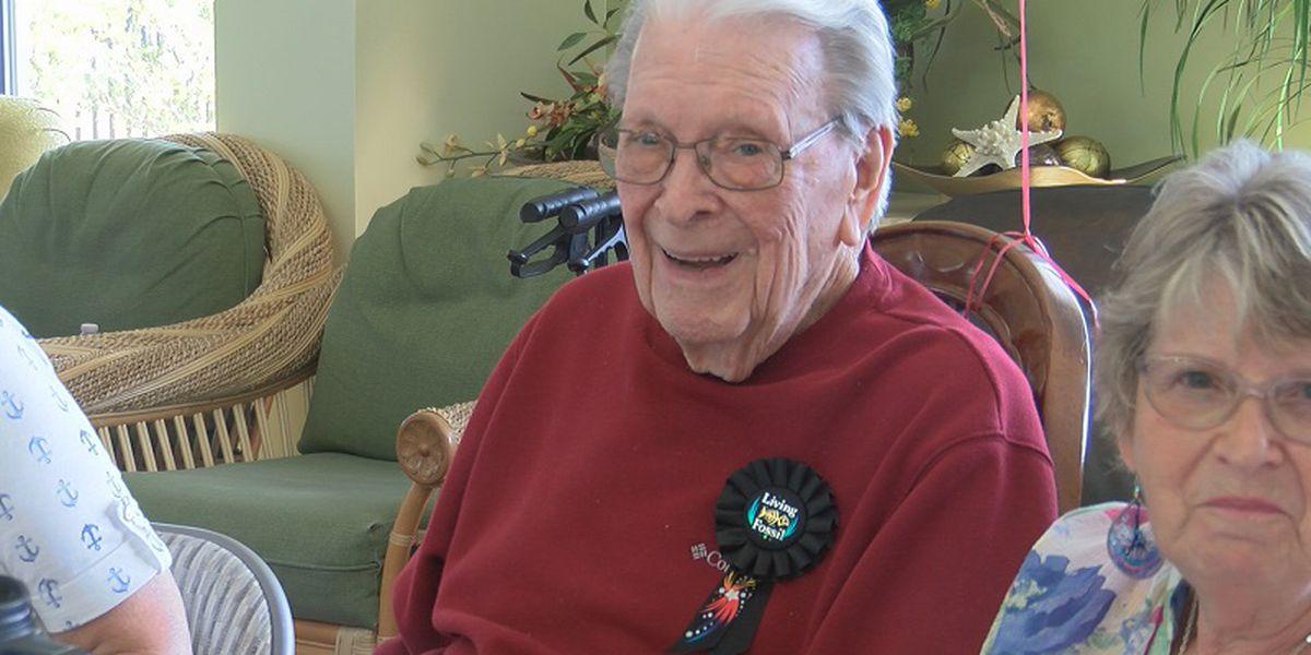 World War II vet celebrates 100th birthday