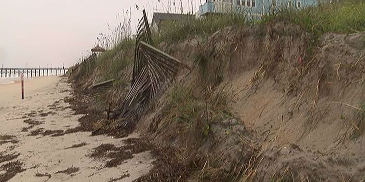 Surf City working to rebuild beach areas hit hardest by hurricane