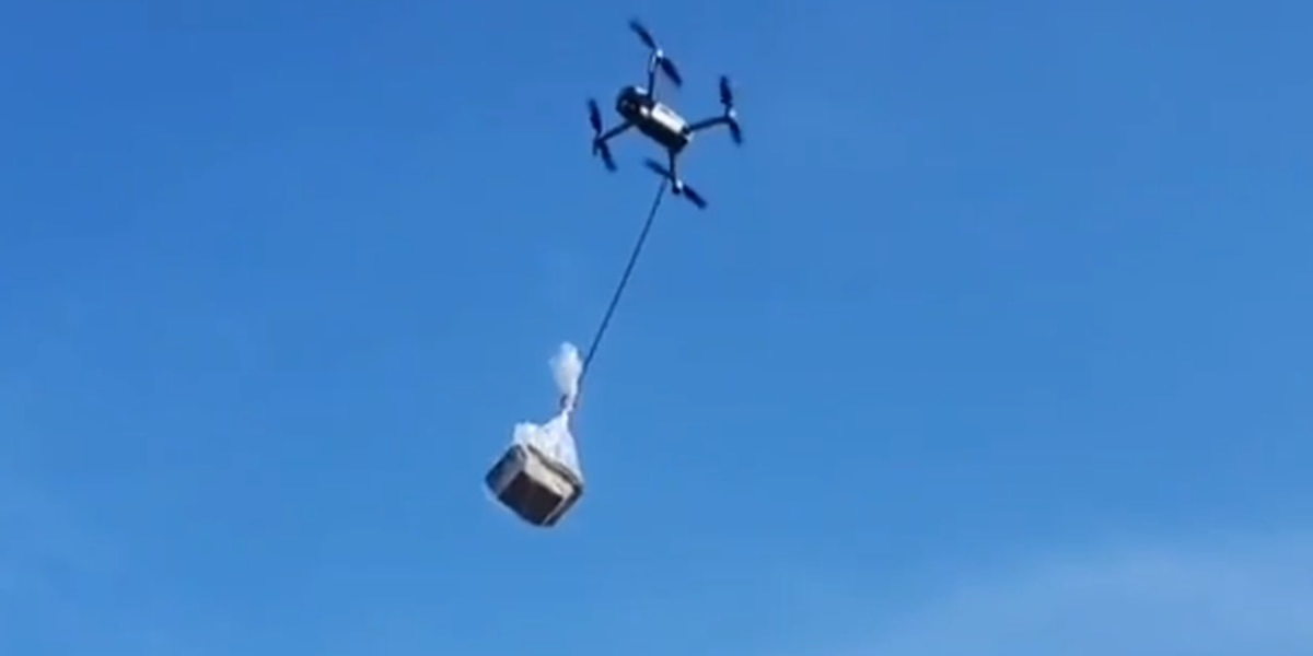 Food truck turns to drone for delivery to isolated customer