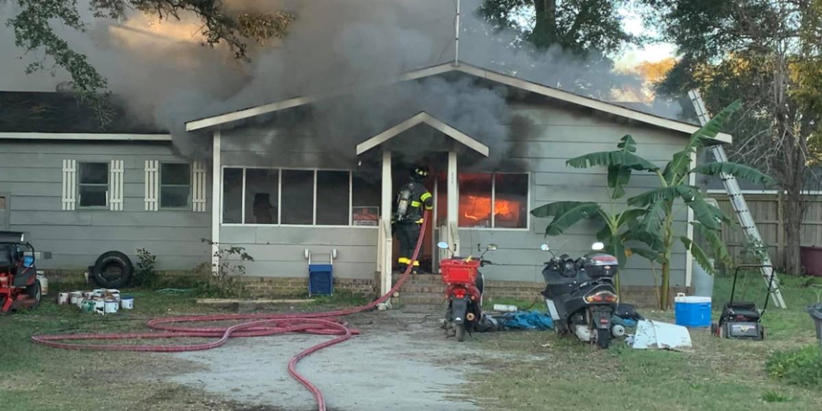 Crews on scene of house fire in Ocean Isle Beach