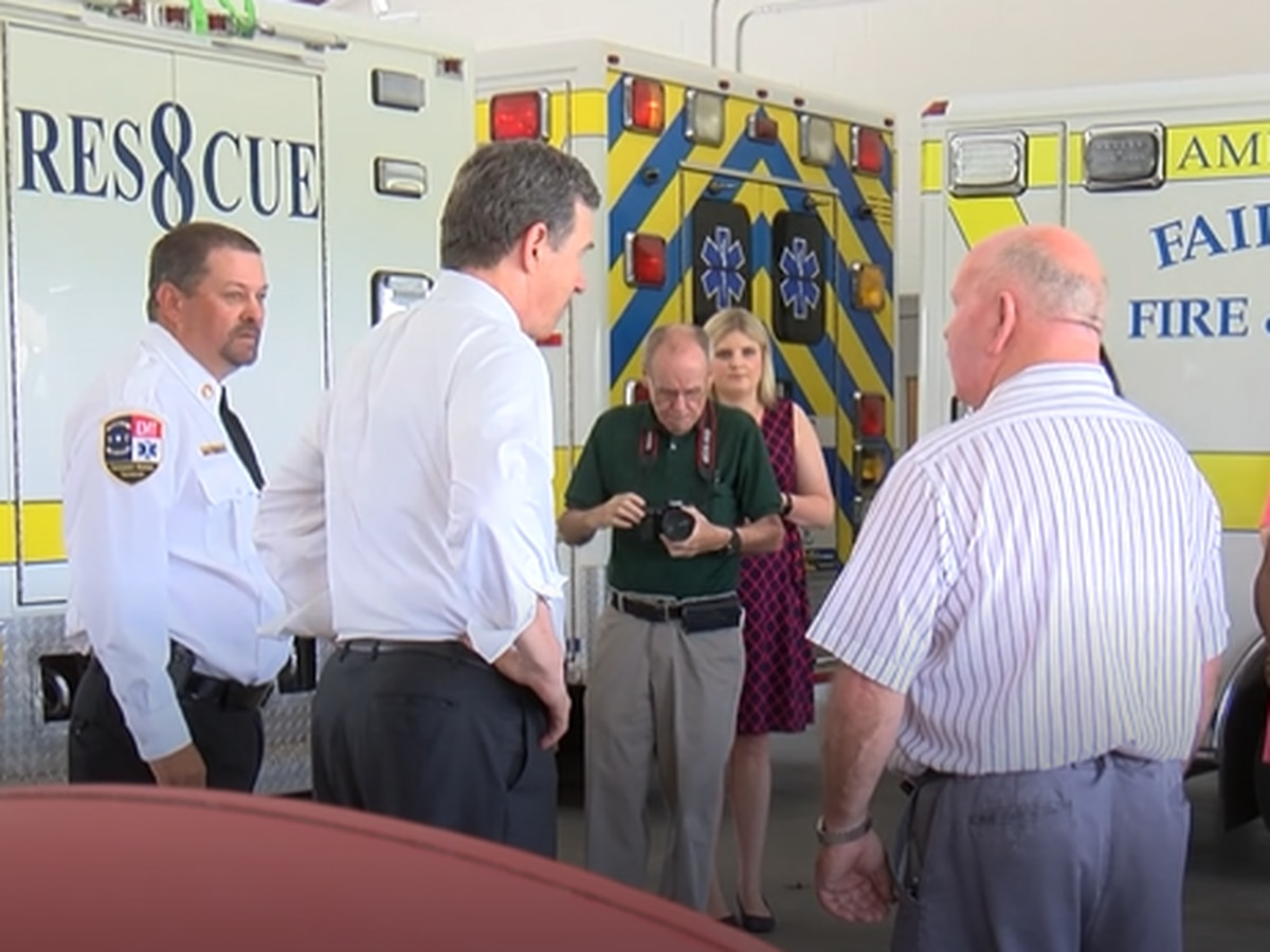 Gov. Cooper talks medicaid expansion during hurricane recovery visit to Columbus County