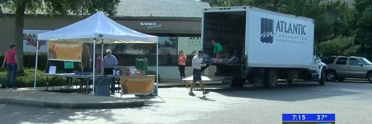 Street Turkeys taking donations for Food Bank of Central and Eastern North Carolina