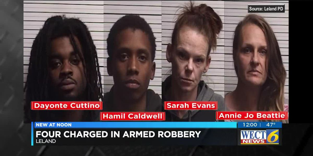 4 arrested in Leland armed robbery