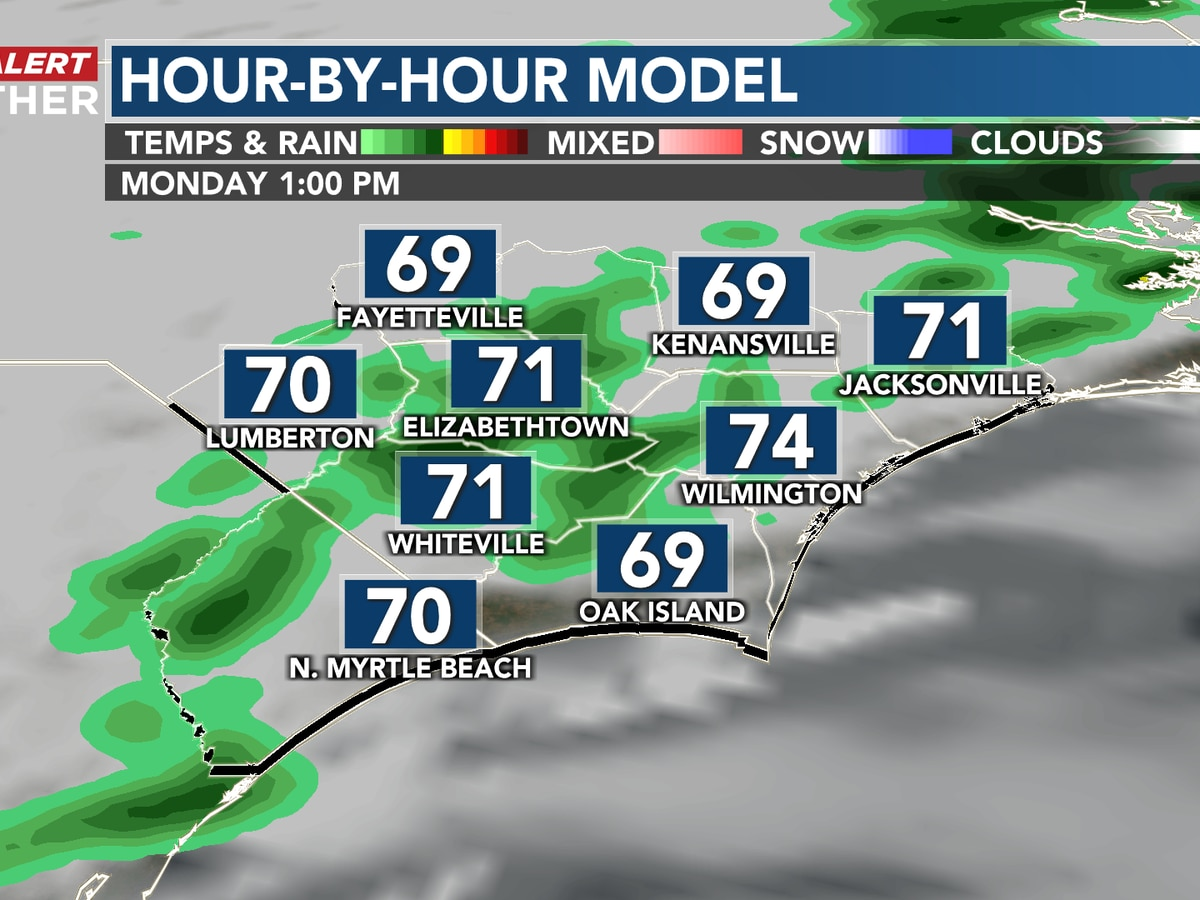 First Alert Forecast: showers return Monday, cooler by Tuesday