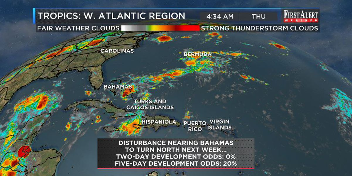 First Alert Forecast: tropics buzzing, weekend cool-down on-track